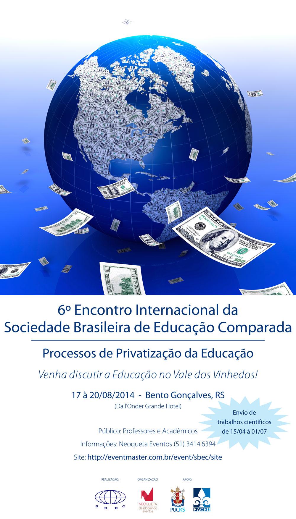 Sexto Encuentro Internacional de la Sociedad Brasileña de Educación Comparada