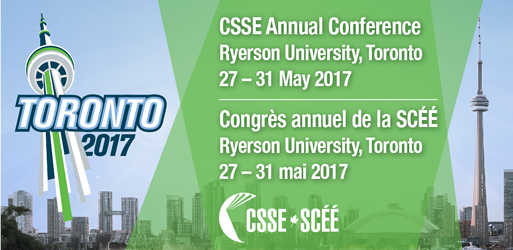 Call for Proposals CSSE Conference 2017 Ryerson University, Toronto, Ontario