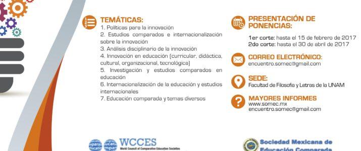 CONVOCATORIA ABIERTA: III Encuentro de Educación Internacional y Comparada, 11-12 mayo 2017, Ciudad de México.