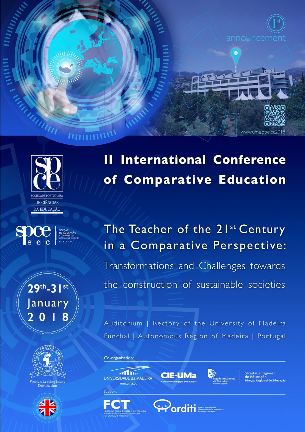 II Conferência Internacional de Educação Comparada, Portugal, 29-31 enero 2018.